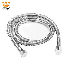 CRW 2M Bathroom Shower Head Water Hose Pipe Chrome Stainless Steel Flexible 79""