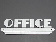 "Art Deco Style OFFICE 9"" Wood sign in silver"