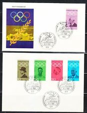 Germany 1968 set of 2 FDC covers Famous Olymipc persons Mi 561-565 Runner cancel