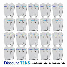 TENS XL Snap On Electrode Pads, 20 Pairs (40 Pads)
