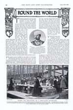 1901 generale ratchev-di Petroff posa Keel-Piastra di prima classe corazzata Devon