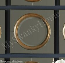 Dazzling Modern SQUARE Wall Mirror Venetian Gold Silver Bunching Tile HORCHOW