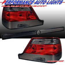 RED SMOKE TAIL LIGHTS 3 PCS FOR 1997-1999 MERCEDES BENZ W140 S-CLASS