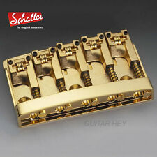 NEW Schaller 3D-5 5 String Bass Bridge with Roller Saddles - GOLD