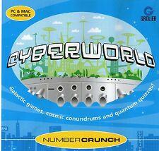 Número Cyberworld Crunch-educativo de 7 a 12 años de Windows 95, 98, XP