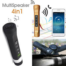 Bike LED Flashlight Music Torch Bluetooth Bike Bicycle Speakers PowerBank Charge