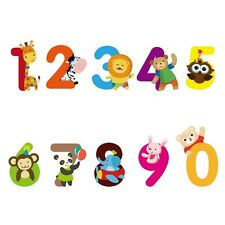 1 Set Home Decor PVC Cute Numbers Animals Wall Sticker Children Bedroom ETQT0027