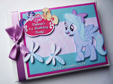 LITTLE PONY GIRL /FIRST/1ST BIRTHDAY GUEST BOOK -  ANY DESIGN