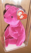 ULTRA RARE Authenticated Ty 1st gen Old Face Magenta Teddy Beanie Baby
