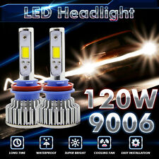 120W 12000LM CREE LED Headlight Kit Light Bulbs 6500K White High Power 9006 HB4