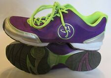 Zumba shoes ladies size 9 PURPLE EUC!