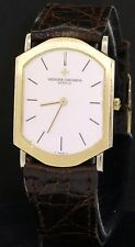 Vacheron Constantin 18K 2-tone gold mechanical men's watch w/ unusual case