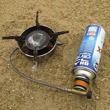 Picnic Burner Cartridge Gas Fuel Canister Stove Cans Adapter Converter Head
