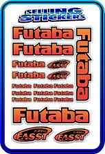 FUTABA SERVO RADIO RX TX 2.4G FLIGHT REMOTE CONTROL STICKERS FASST RED ORANGE B
