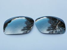 NEW ENGRAVED POLARIZED CHROME SILVER MIRRORED REPLACEMENT OAKLEY SCALPEL LENSES