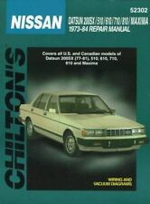 Nissan Datsun 200SX 510 610 710 810 Maxima 1973-84 Chilton Repair Manual