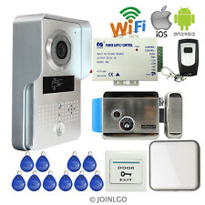 RFID Wifi Video Intercom Doorbell Camera for IOS Android Phone + Electric Lock