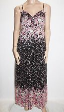JAY JAYS Brand Black Floral Chiffon Maxi Dress Size 16-XL BNWT #Si36