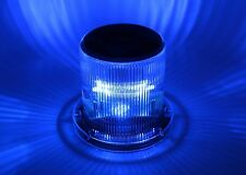 Marine Solar Warning Light - BLUE LED Marine Dock Barge Safety Beacon Light