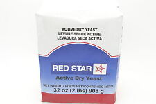 Red Star Bakers ACTIVE DRY YEAST Vacuum Pack  (32oz) 2 POUND PACK