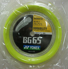 YONEX Badminton String BG65-2 BG-65 x 200 metres coil , YELLOW, 100% Genuine