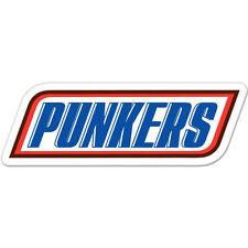 """Punkers Punk Funny car bumper sticker decal 8"""" x 3"""""""