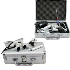 3.5X420 Dental Surgical Binocular Loupes&Head Light Aluminum box deluxe kit BEST