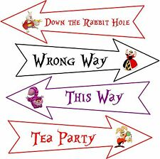 Party Arrows 8 Alice in Wonderland original cartoon assorted colors party decor