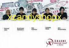 Japan ARASHI Around Asia in Dome 2007 official bookmark set