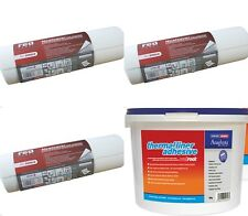 3 X THERMAL LINING POLYSTYRENE WALLPAPER + 5KG ADHESIVE INSULATION 2MM THICK