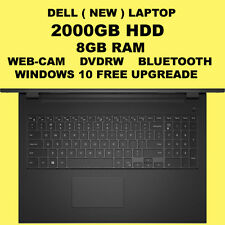 "Dell 15.6"" Laptop 8GB / 2TB / Radeon R4 Graphics"