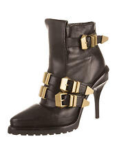 CRAZY COOL SUPER RARE NWB ALEXANDER WANG ANKLE BOOTS WITH BRASS BUCKLE STRAPS