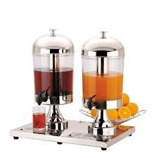 DOUBLE 2 x 8 litres Lait/Jus Distributeur Le petit déjeuner Buffet Barres,Hotels