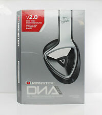 Monster DNA Pro 2.0 On-Ear Headphones w/Mic & Remote White Tuxedo/Black NEW T26