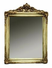 Vintage French Style Ornate Wall Mirror - wood, baguette