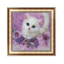 5D DIY Diamond Painting Cute Little Cat Embroidery Cross Stitch Craft Home Decor