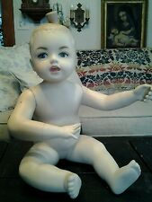 VINTAGE 1960S FRENCH BABY TODDLER ARTICULATED MANNEQUIN LOVELY FACE