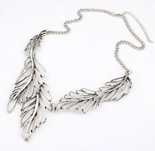 Vintage Maple Leaves Statement Bib Pendant Fashion Women Choker Necklace Collar