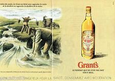 PUBLICITE ADVERTISING 096  1995  Grant's  (2p)  whisky acheminement par aqueduc