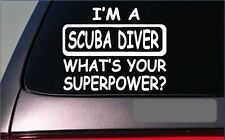 "Scuba Diver Superpower Sticker *G444* 8"" Vinyl Decal diving wetsuit mask"
