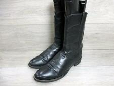 JUSTIN MENS WESTERN/COWBOY BOOTS SIZE UK 9 BLACK GOOD CONDITION CODE-EA6175