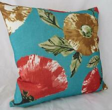 Home decor Turquoise Red Floral Textured Pillow Cushion Cover  Throw 45cm