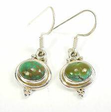 TURQUOISE GEMSTONE 925 STERLING SILVER EARRINGS STAMPED 2 g