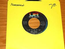 "NORTHERN SOUL 45 RPM - MARV JOHNSON - U A 208 - ""I LOVE THE WAY YOU LOVE"""
