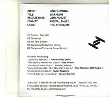 (DT850) Anchorsong, Darkrum - 2012 DJ CD