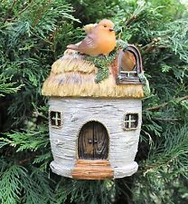 Garden Bird House Ornament With Robin Nesting Box