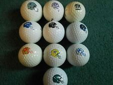 "10  ""AMERICAN FOOTBALL CLUB HELMETS"" - Golf Balls - ""PEARL/A""  Grades."