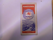 ancienne carte routiere usa pennsylvania mobilgas  road map
