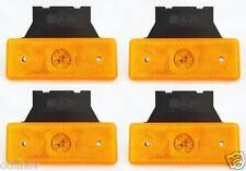 4x Orange LED Begrenzungsleuchten E Markiert Lampen Lastwagen Anhänger Wohnwagen