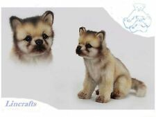 Sitting Wolf Cub  Plush Soft Toy by Hansa 6728